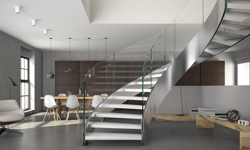 custom staircase design curved stairs