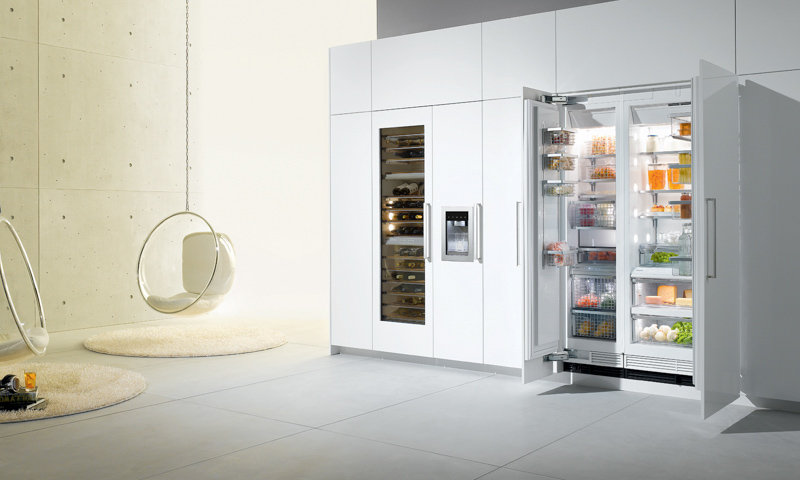 Modern kitchen appliances Miele Liebherr Bertazzoni Fagor Gaggeneau KitchenAid SMEG