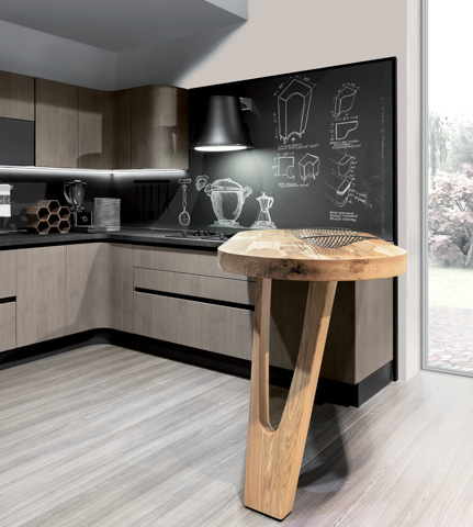Modern kitchen cabinets penelope european cabinets for High pressure laminate kitchen cabinets